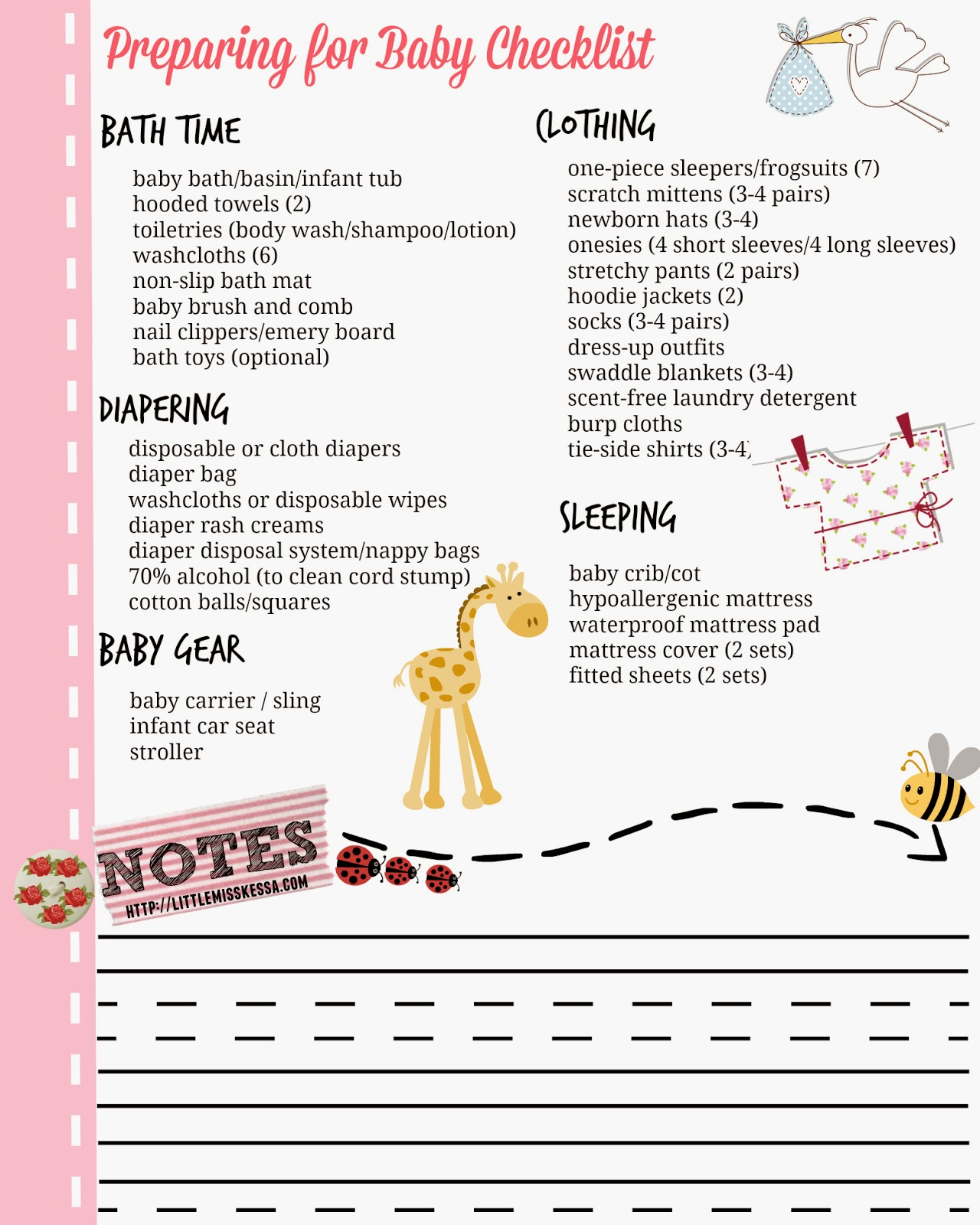 PREPARING FOR BABY CHECKLIST - A Day In The Life Of This Miss