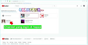 Cara Menghapus Channel Youtube