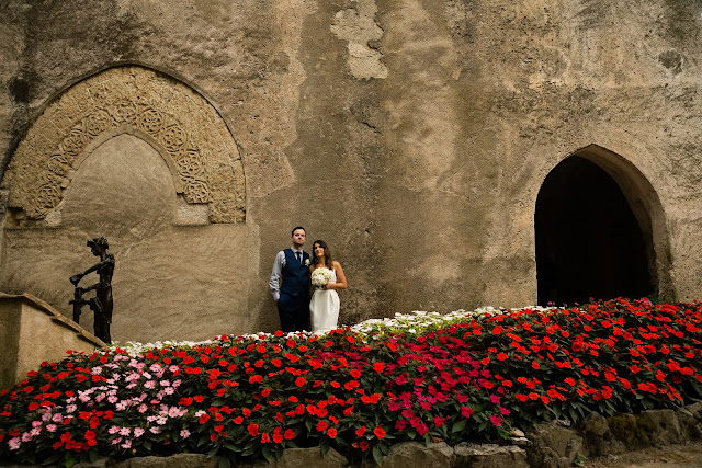 Wedding portrait at Villa Rufolo