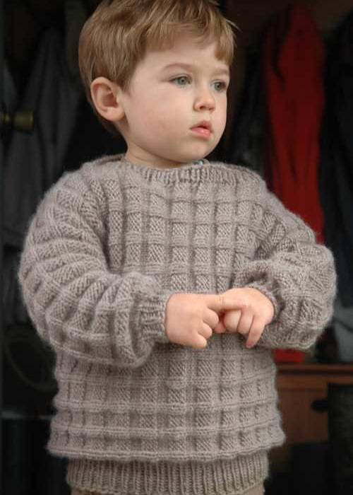 Little Boy's Cuff-to-Cuff Sweater - Free Pattern