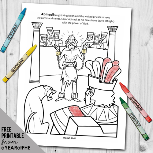Abinadi Coloring Page From Lds