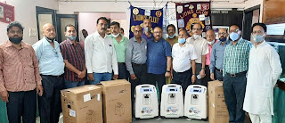 लायंस क्लब ने तीन आक्सीजन कंसंट्रेटर का किया शुभारंभ  | #NayaSaberaNetwork