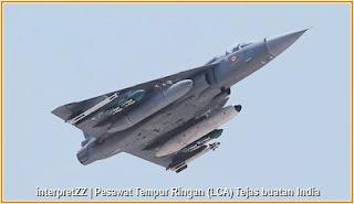Gambar pesawat pejuang ringan Tejas keluaran India