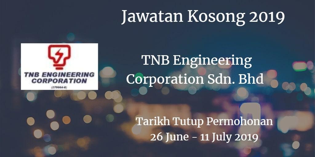 Jawatan Kosong TNB Engineering Corporation Sdn. Bhd 26 June - 11 July 2019