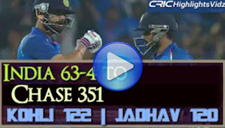 India chase 63-4 to chase 351- India vs England 1st odi 2017 highlights