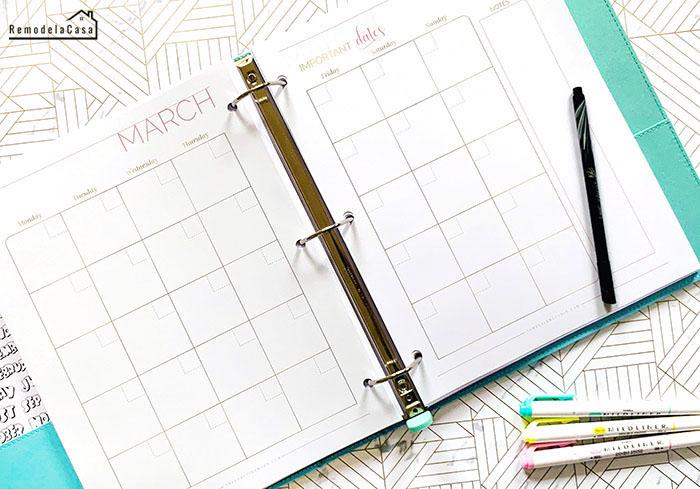 Blogging Planner with mildliner highlighters