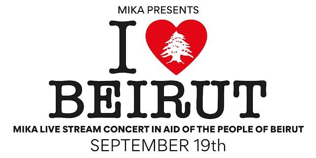 """Mika presenta la transmisión en vivo del concierto benéfico """"I Love Beirut'"""