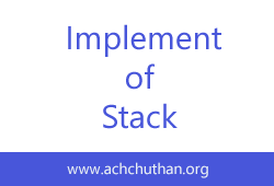 C++ Program to Implement of stack using array