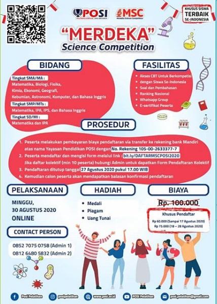 MERDEKA SCIENCE COMPETITION (MSC)