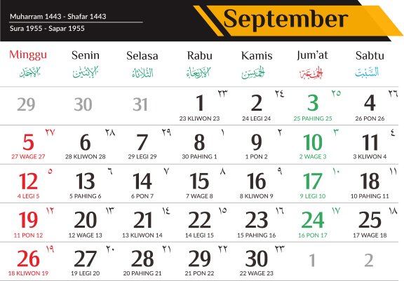 Download Template Kalender 2021 Lengkap dan Gratis
