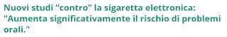 sigaretta elettronica cavo orale