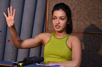 Actress Catherine Tresa Pos during Self Dubbing for Gautham Nanda Movie  0007.JPG
