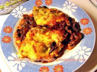 Μοσχάρι με μανιτάρια και τυρί στο φούρνο - από «Τα φαγητά της γιαγιάς»