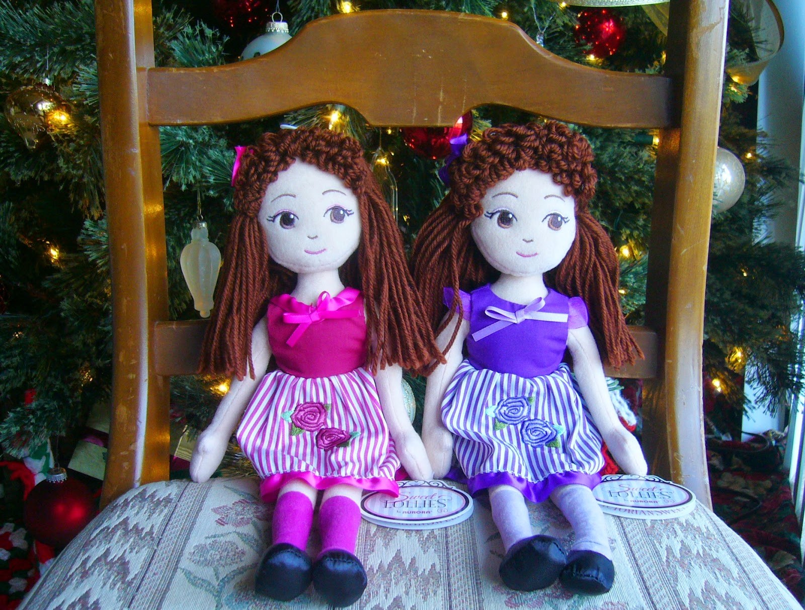Dolls for Operation Christmas Child shoeboxes.