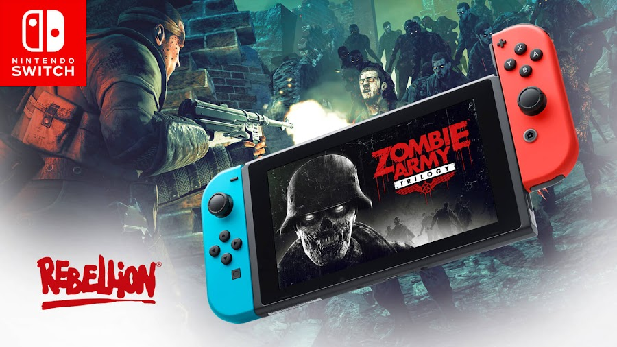 zombie army trilogy nintendo switch rebellion developments third-person tactical shooter spin-off series march 31, 2020 local wireless co-op motion controls pro controller hd rumble support new friend invite system