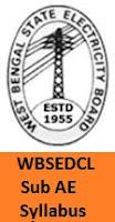 WBSEDCL Sub AE Syllabus