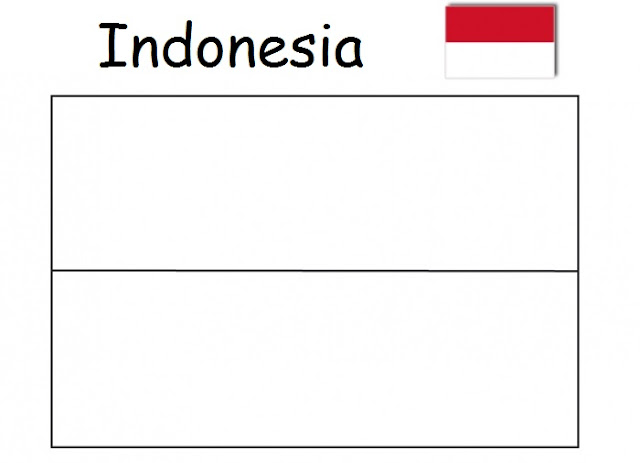 Geography Blog Indonesia Flag Coloring Picture