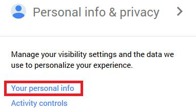 Personal info privacy of Gmail