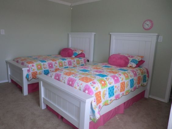 Elegant White Twin Beds for Girls