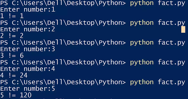 factorial of a number in python using recursion