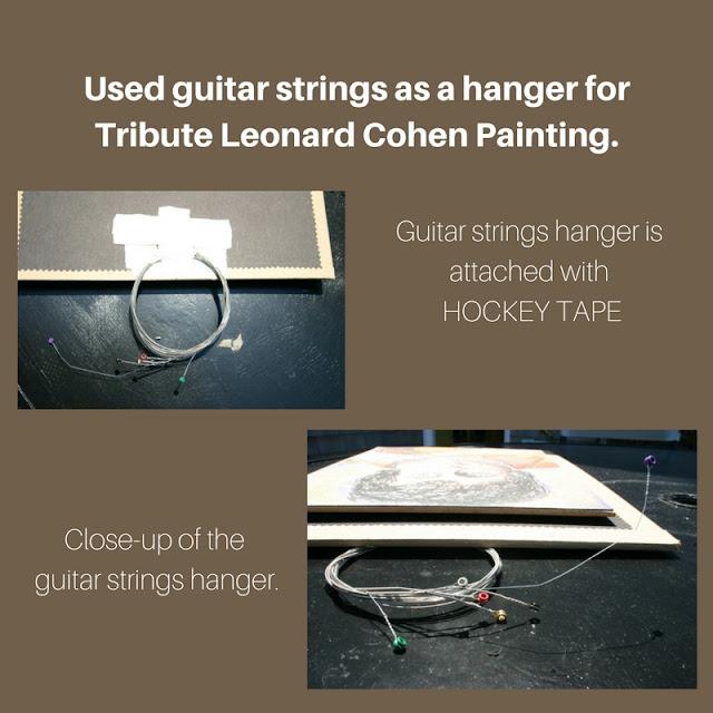Guitar Strings for hanging art.