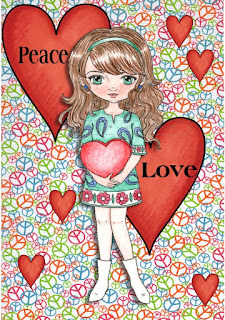60s Peace Love Girl