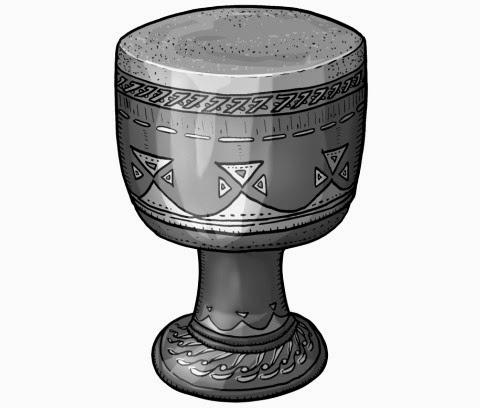 monochrome illustration : Arabian drum. tombak