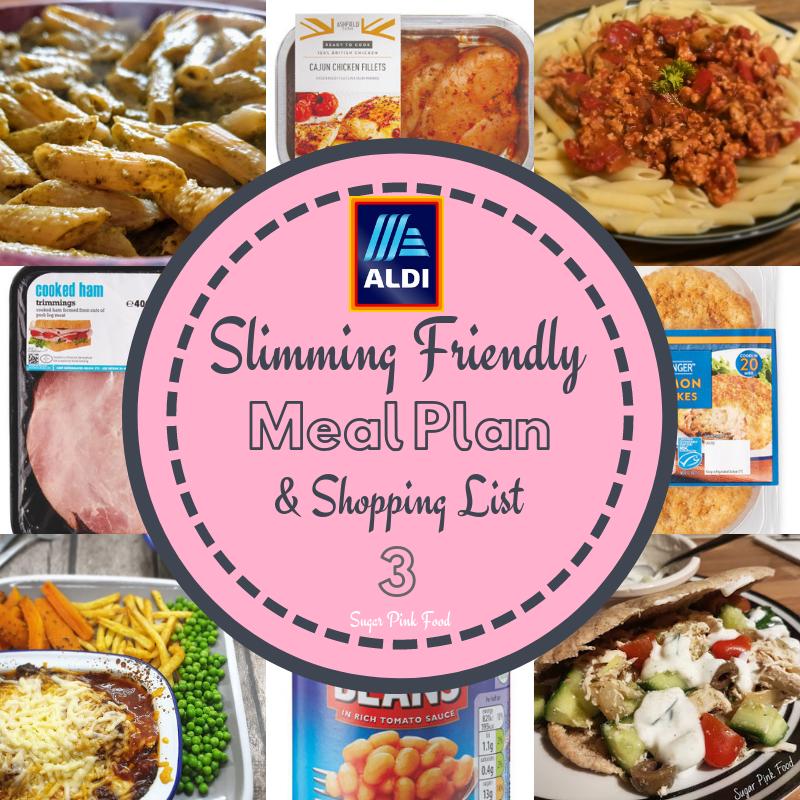 Aldi 7 Day Slimming World Friendly Meal Plan & Shopping List