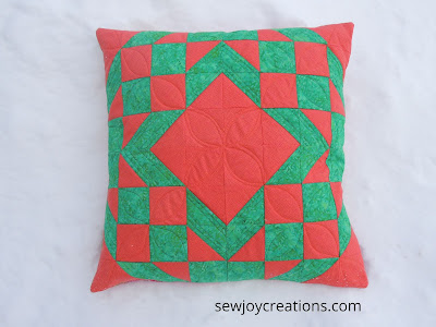 pillow cushion Turnabout Patchwork diamond star variation