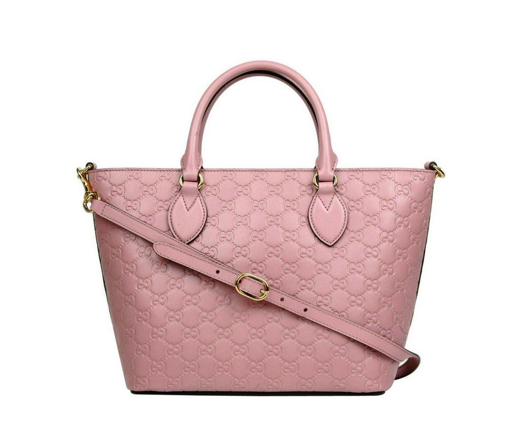Authentic Gucci Crossbody Handbag Rose Guccissima Leather