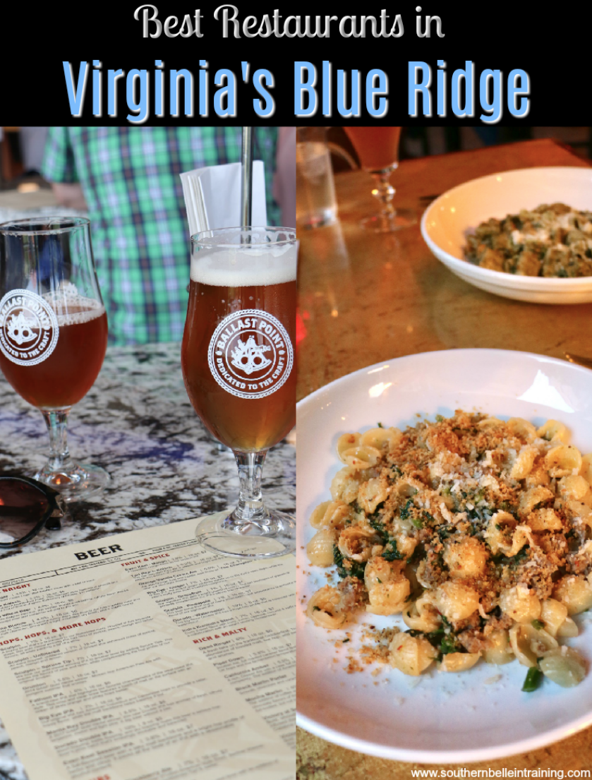 Best Restaurants in Virginia's Blue Ridge