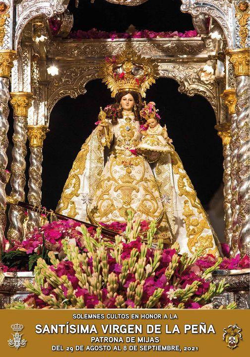 Cartel Virgen de la Peña 2021, Patrona de Mijas año 2021