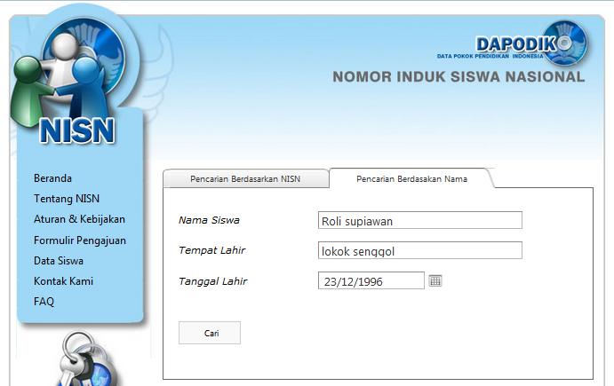 Cara Mudah Mengetahui NISN (Nomor Induk Siswa Nasional)