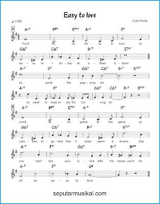 Easy to Love chords jazz standar