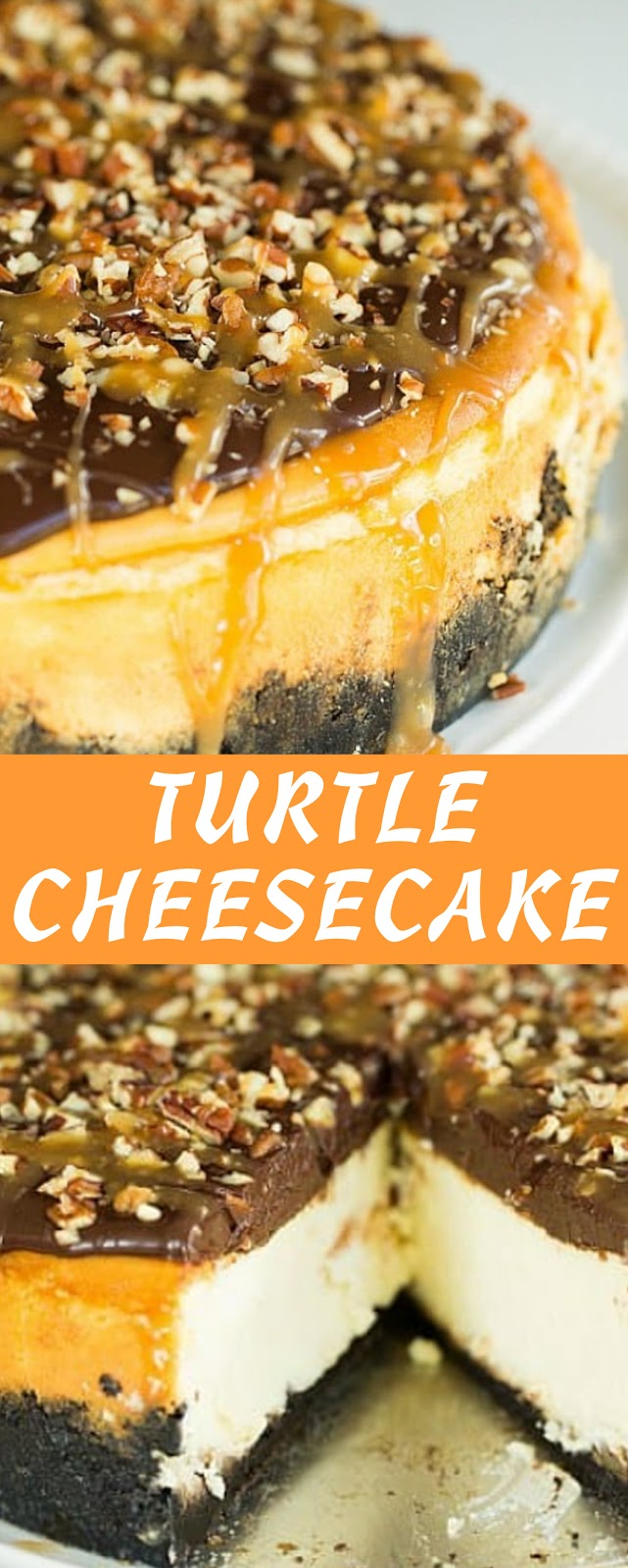 Recipe Turtle cheesecake #cheesecake