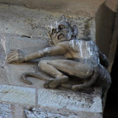 Little sculpture of the devil.