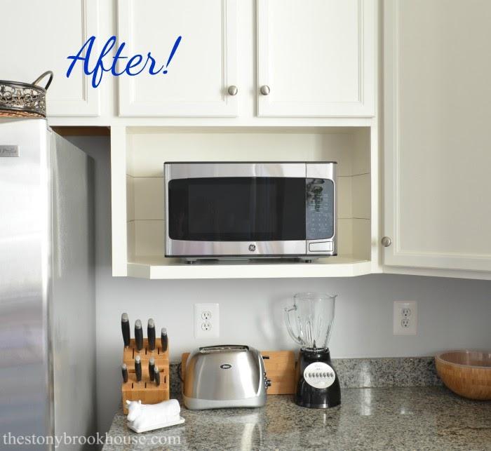 Shiplap Microwave Shelf