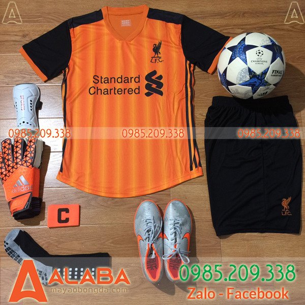 Áo bóng đá Liverpool màu cam