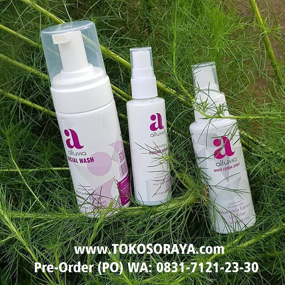 photo produk alluvia facial wash pembersih wajah
