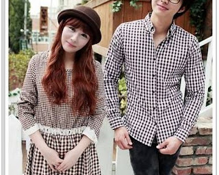 model baju couple bahan satin