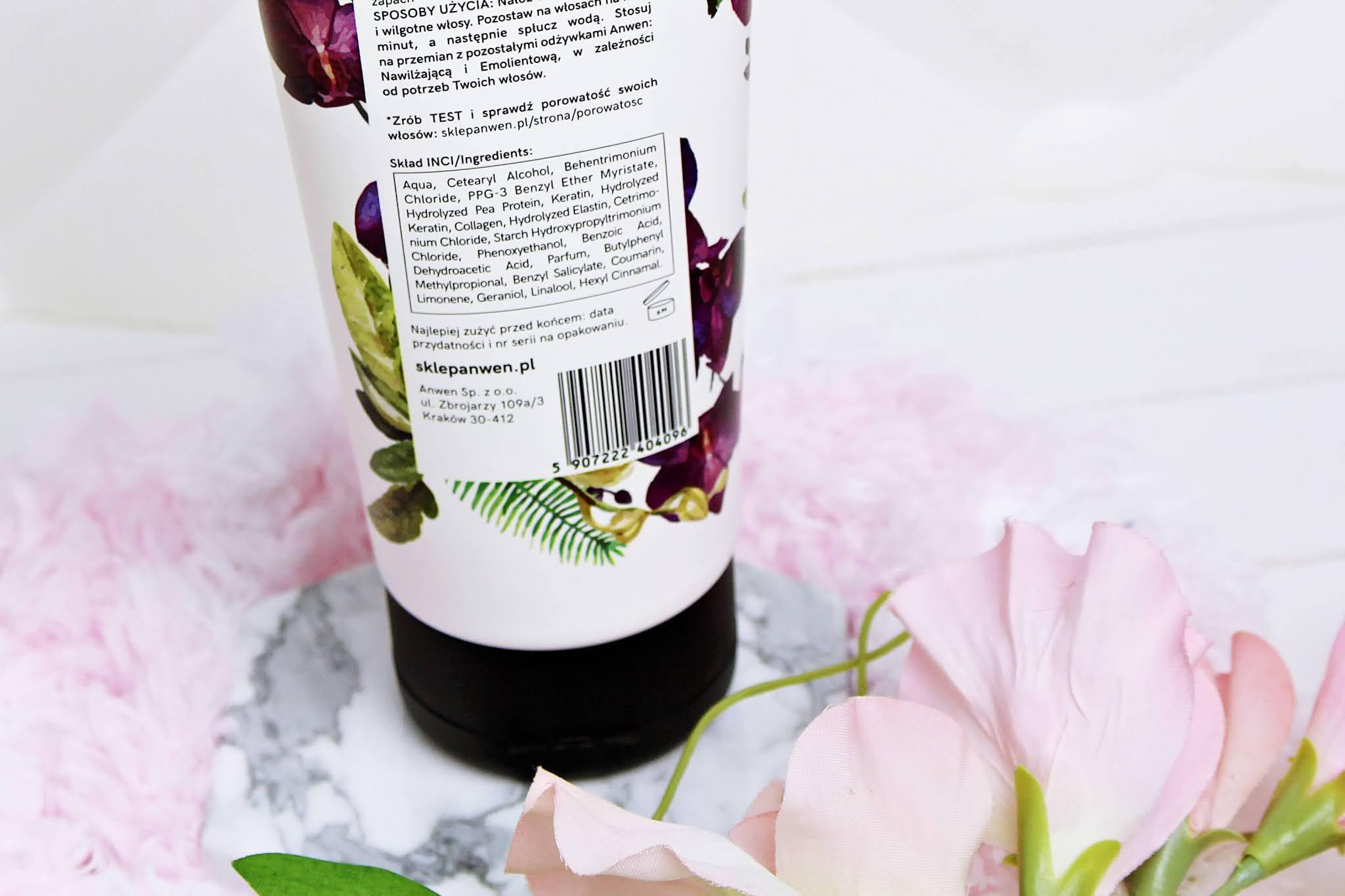 Anwen Proteinowa Orchidea Odżywka do Włosów o Wysokiej Porowatości