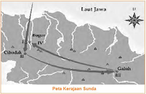Peta Kerajaan Sunda - Kerajaan Sunda (Letak, Raja-Raja, Sumber Sejarah, Runtuhnya Kerajaan Sunda)