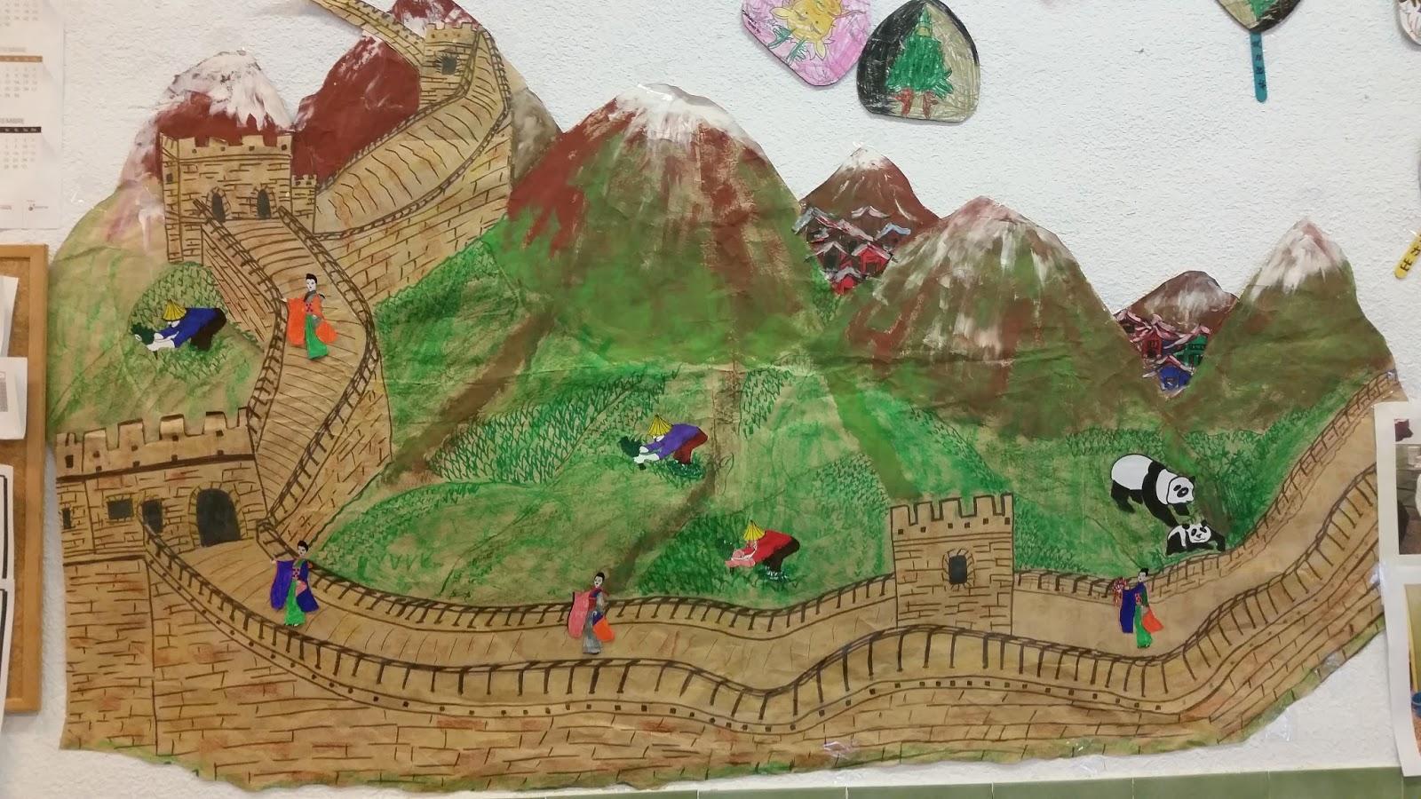 Nuestro comedor hispanidad elx la gran muralla china for Adornos para murallas