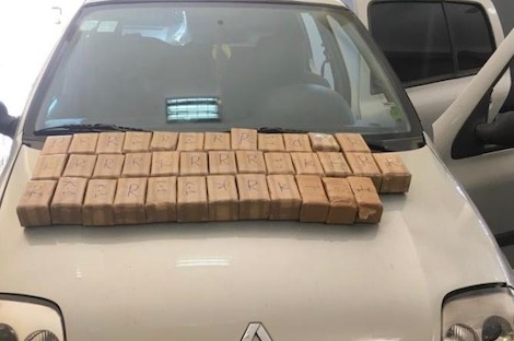 الدرك يضبط سيارة محملة بالشيرا بمدخل مدينة فاس
