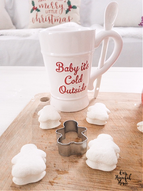 baby it's cold outside white Christmas mug gingerbread man cookie cutter
