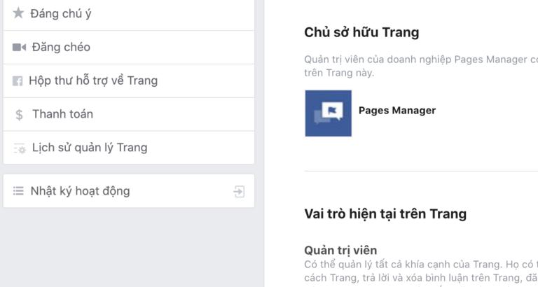 Chủ sở hữu Trang