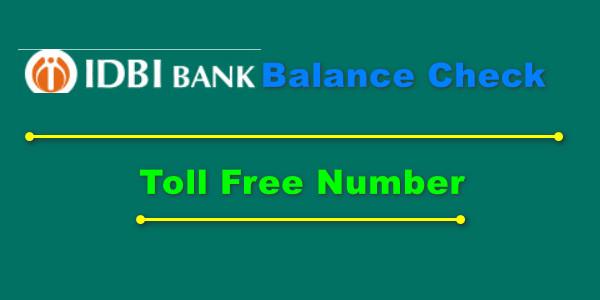 IDBI Bank Balance Check