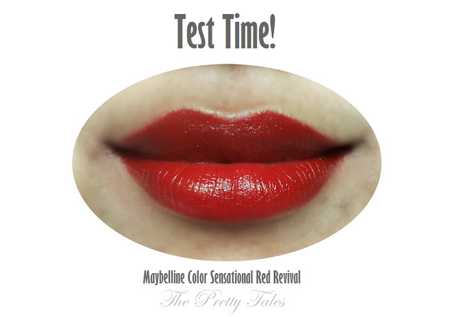 maybelline color sensational red revival review test