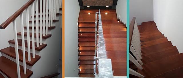Papan kayu merbau untuk anak tangga