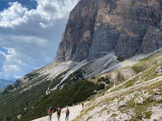 At the base of Tofana di Rozes on trail 404, near Rifugio Dibona.